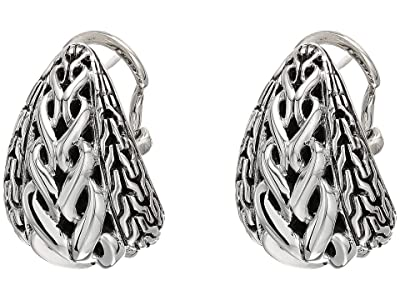 John Hardy Asli Classic Chain Link Buddha Belly Earrings (Silver) Earring