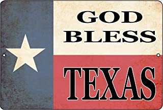 Rogue River Tactical Texas State Flag Metal Tin Sign Wall Decor Man Cave Bar Texans Lone Star God Bless Texas