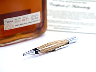pens made from whisky barrels