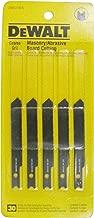 DEWALT DW3718-5 3-Inch Masonry Board Cut Cobalt Steel U-Shank Jig Saw Blade (5-Pack)