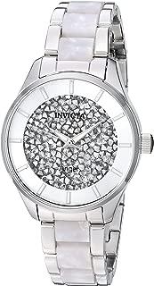 Women's Angel Quartz Watch with Stainless-Steel Strap, Silver, 15.8 (Model: 25246)