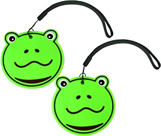 NIDO NEST Cute Luggage Tags for Kids - Fun Bag Tags, Travel Accessories, Gifts Girls, Boys Set 2 FROG