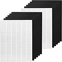 FFsign 2 Ture HEPA Filters + 10 Carbon Replacement Filters Compatible with Winix 115115 Filter A Size 21 for Winix Plasma ...