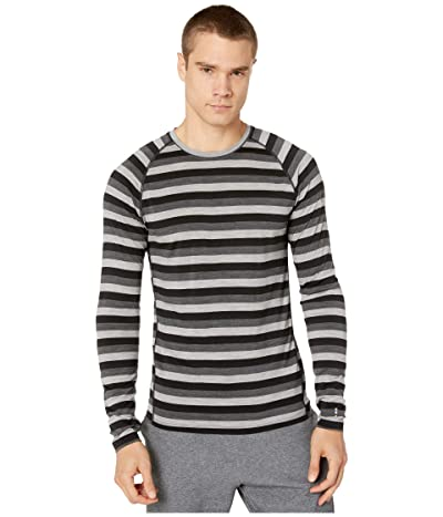 Smartwool Merino 150 Baselayer Long Sleeve (Iron Stripe) Men
