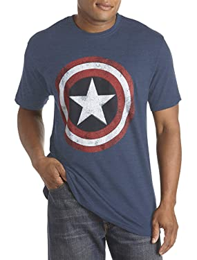 True Nation by DXL Big and Tall Marvel Captain America Graphic Tee
