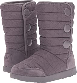 UGG Kids Puffy Quilted Houndstooth (Little Kid/Big Kid)