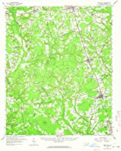 YellowMaps Rose Hill NC topo map, 1:62500 Scale, 15 X 15 Minute, Historical, 1962, Updated 1964, 20.8 x 16.9 in