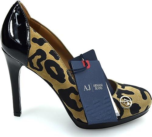 Armani jeans  scarpa decolte elegante tacco alto donna in pelle Z55623712