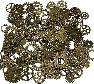200 grammes assorties Vintage Bronze Metal Steampunk faisant des charmes Roue de montre dent (Bronze)
