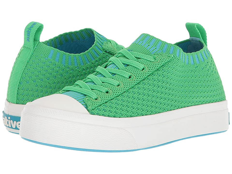 Native Kids Shoes Jefferson 2.0 Liteknit (Little Kid) (Grasshopper Green/Shell White) Kids Shoes