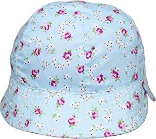 Aelstores Baby Girls Sun Hat Bow Summer Bucket Prince Frill Broderie Anglaise Bonnet Strap
