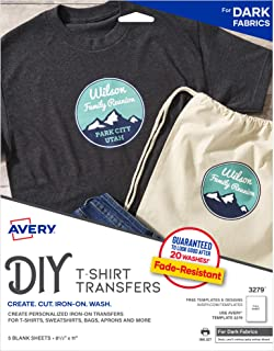 Avery Dark T-Shirt Transfers 5 sheets