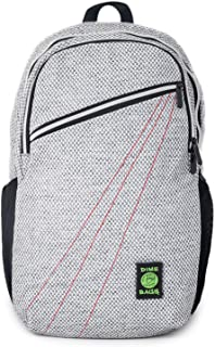 Dime Bags City Dweller Casual Hemp Backpack with Padded Laptop Compartment and Water Bottle Holder (Silver)