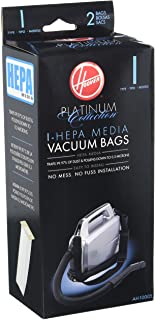 Best Hoover Platinum Collection Canister Vacuum Cleaner Type I HEPA Bag (2-Pack), AH10005, 2 Count Review