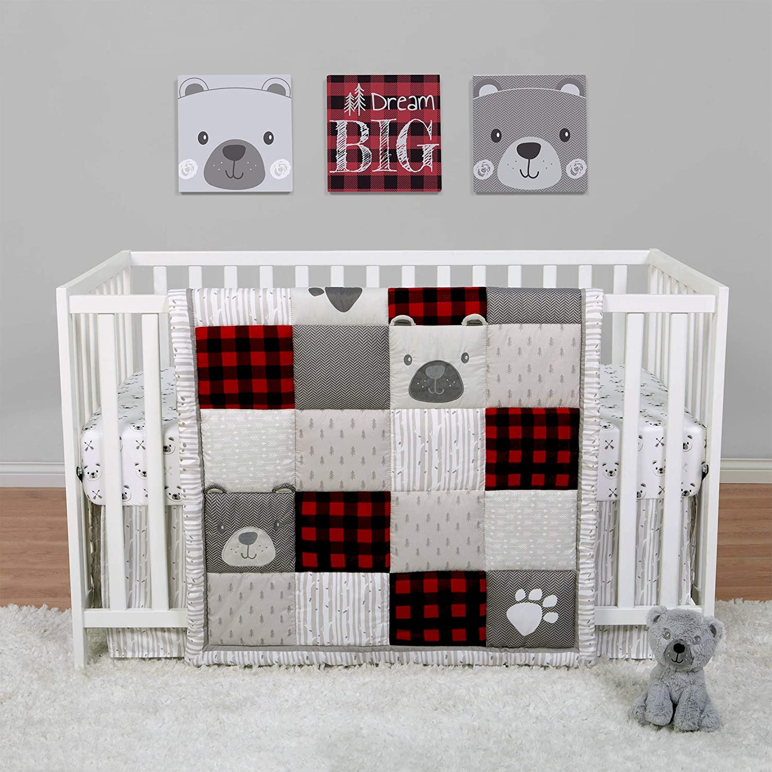 Sammy Lou Up North 4 Piece 5 ☆ popular Woodland Bedding Crib Set and Popular shop is the lowest price challenge Red