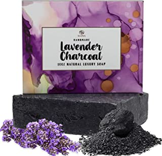 Charcoal Soap Bar - Organic Acne Face & Body Wash for Women, Men.Natural Chemical Free Mens Soaps.Activated Charcoal, Lavender + Premium Grade Essential Oils for all Skin Types.Great Gift Idea