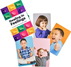 Dealing in Feelings Emotions Cards: Feelings Photo Cards to Teach Emotions, Therapy Cards for Increasing Social Skills and Empathy. Emotions Flash Cards