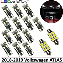 LEDpartsNow Interior LED Lights Replacement for 2018-2019 Volkswagen VW Atlas Accessories Package Kit (15 Bulbs), WHITE