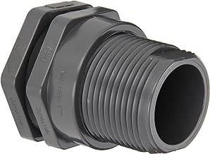 Hayward BFA1015SES Series BFA Standard Flange Bulkhead Fitting, Socket x Socket End, PVC with EPDM Seals, 1-1/2