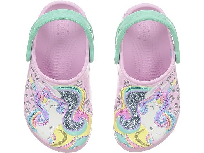 Crocs Kids Fun Lab Unicorn Clog Comfortable Slip on Shoe for Toddlers