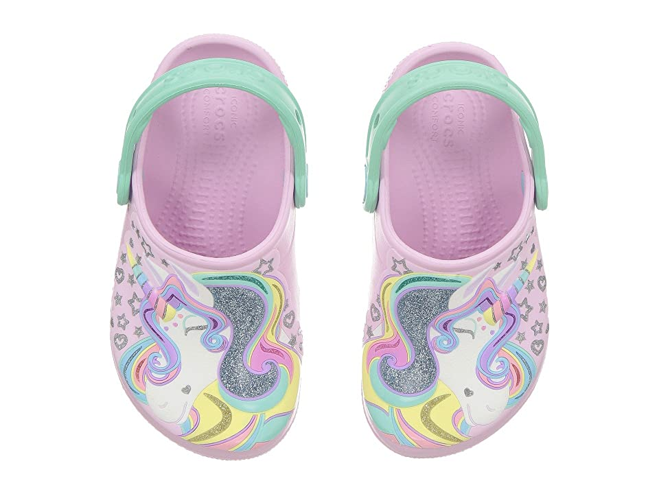 Crocs Kids FunLab Unicorn Clog (Toddler/Little Kid) (Ballerina Pink/New Mint) Kid