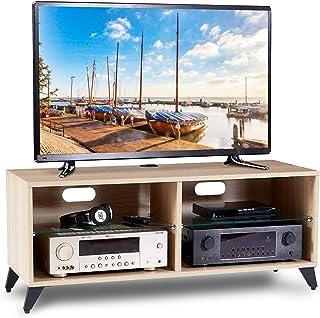 RFIVER Mueble TV Mesa para Televisión de Madera para Salon Dormitorio 110x40x46 de Color Roble TS4001