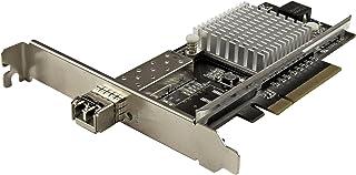 StarTech.com 10G Network Card - 1x 10G Open SFP+ Multimode LC Fiber Connector - Intel 82599 Chip - Gigabit Ethernet Card (...