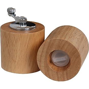Premier Housewares 9902165 Pfeffermuhle Und Salzstreuer Holz Natur Amazon De Kuche Haushalt
