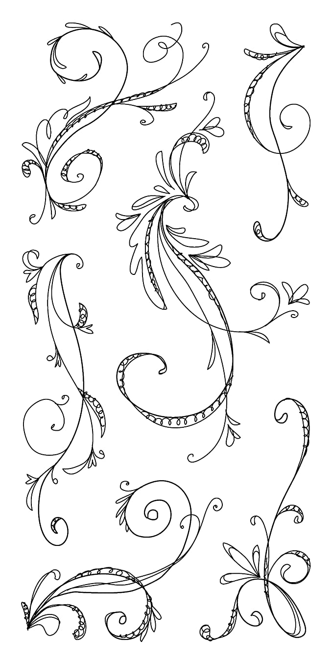 Inkadinkado Sketchy Flourishes Clear Stamps