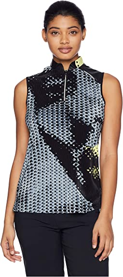 Crunchy Veronica Print Sleeveless Top