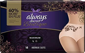 Always Discreet Boutique Incontinence & Postpartum Underwear for Women, Disposable,..