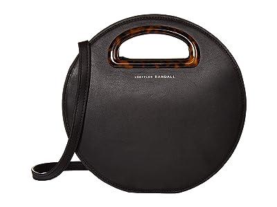 Loeffler Randall Indy Circle Crossbody (Black/Tortoise) Cross Body Handbags