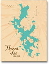 Moosehead Lake Maine Vintage-Style Map Giclee Archival Canvas Print Wall Art Décor for Home & Office by Lakebound (9