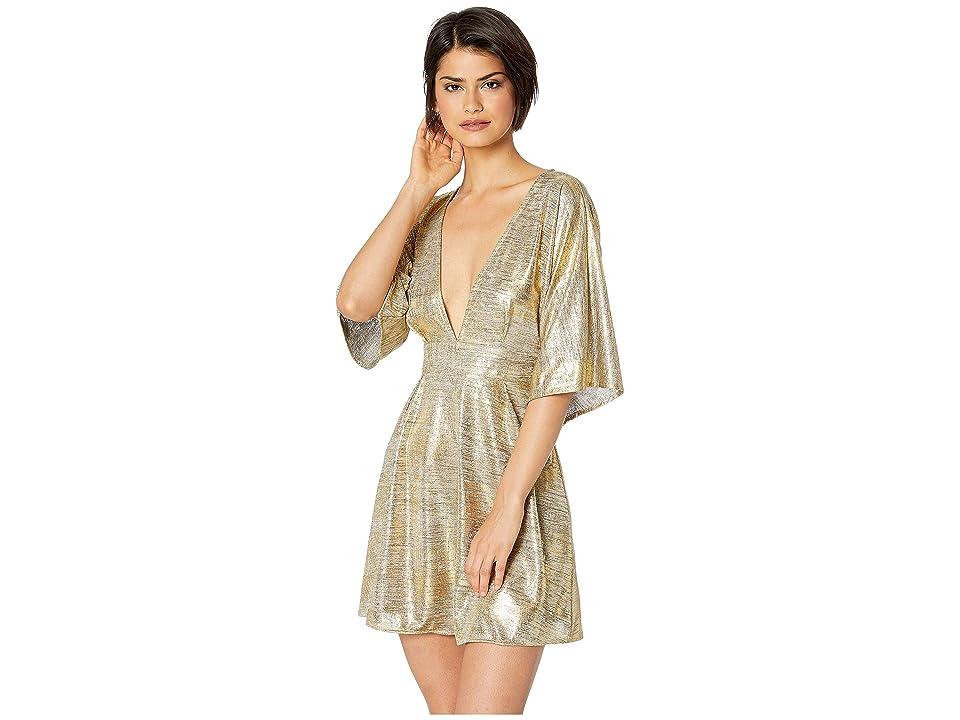 Lucy Love Light Lounge Dress (Gold) Women