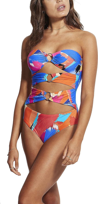 Seafolly Women's Standard Cut Out Bandeau One Piece Swimsuit
