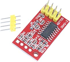 NOYITO AD7705 Dual 16-Bit ADC Data Acquisition Module Input Gain Programmable SPI Interface TM7705
