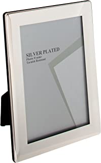 Viceni Thin Edge Silver Plated Photo Frame, 5 by 7-Inch