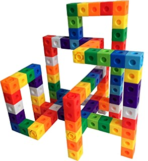 Unlimited Creation Cubes 100 Piece Snap Unit Cubes Centimeter Cube and Interlocking Building Set STEM Toy | Promote Color Sorting & Math Counting Skills