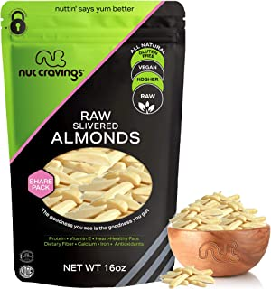 Sponsored Ad - Raw Slivered Almonds - Unsalted, Superior to Organic (16oz - 1 Pound) Packed Fresh in Resealble Bag - Nut T...