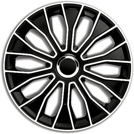 4er Set Radkappen Radblenden Radzierblenden Fame Schwarz Silber Größe Universal 16 Zoll Auto