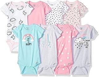Gerber Baby-Girls 8-Pack Short-Sleeve Onesies Bodysuit Infant-and-Toddler-Bodysuits - Pink