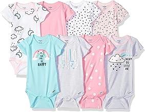 Gerber baby-girls 8 Pack Short Sleeve Onesies Bodysuits