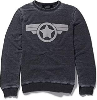 Marvel Captain America Icon Charcoal Sweatshirt by Re:Covered
