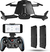 Holy Stone Drone Foldable, Pocket, Selfie Drone, Live Video, Altitude Hold, Accredited, Mode 1/2 Auto Conversion, SHADOW HS160
