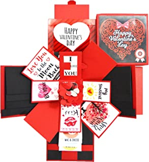 DecuT Explosion Box 3 Layered Handmade Valentine Explosion Box Romantic Gift Unique Scrapbook DIY Sweet Memories Photo Alb...