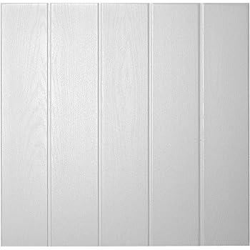Decosa Deckenplatten Athen In Holz Optik 160 Platten 40 M2 Deckenpaneele In Weiss Decken Paneele Aus Styropor 50 X 50 Cm Amazon De Baumarkt