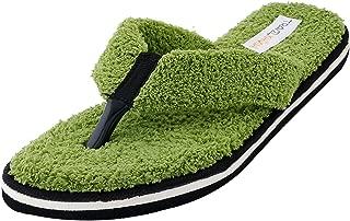 Travelkhushi Women's Grass Terry Memory Foam Flip-Flops