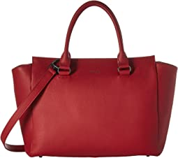 Lipault Paris Plume Elegance Leather Medium Satchel Bag