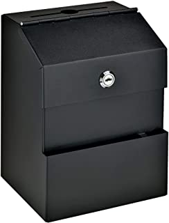 Mail Boss Comment Boss 8100 Locking Steel Suggestion Box - Key Drop Box - Collection Box - Donation Box - Ballot Box - wit...