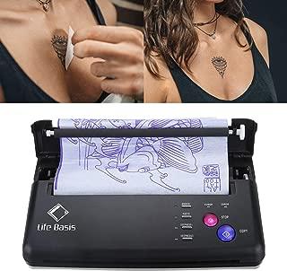 Life Basis Tattoo Stencil Transfer Machine Transfer Copier Tattoo Kit Stencil Printer Thermo Printer for Temporary and Permanent Tattoos Black with Bonus 10pcs Tattoo Paper